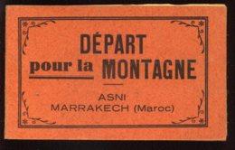 MAROC - MARRAKECH-ASNI - DEPART POUR LA MONTAGNE - CARNET DE 10 CARTES - Marrakech