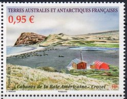 TAAF ,  FRENCH ANTARCTIC, 2019, MNH,LANDSCAPES, AMERICAN BAY, CABINS, 1v - Polar Philately