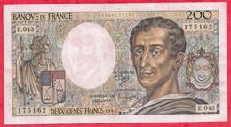 "200 Francs ""Montesquieu"" 1986-----VF/SUP---Série E.43 ---AUCUN TROU D EPINGLE - 1962-1997 ''Francs''"