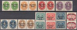 BAVIERA - BAYERN - Lotto Composto Da 20 Francobolli Di Servizio Nuovi. Yvert 61, 62, 63, 64, 65, 66, 67, 68, 71 E 77. - Bavaria