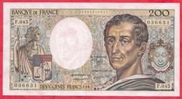 """200 Francs """"Montesquieu"""" 1984-----VF/SUP---Série  J.025  ---AUCUN TROU D EPINGLE- - 1962-1997 ''Francs''"""