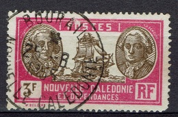 New Caledonia, Bougainville And La Pérouse, French Explorers, 3f., 1928, VFU   Awesome Cancellation From BOURAIL - New Caledonia