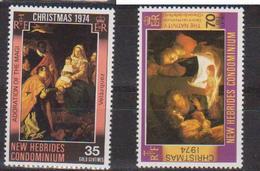 NOUVELLES HEBRIDES        N° YVERT   406/407  NEUF SANS CHARNIERES       ( NSCH 07 ) - English Legend
