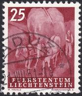 Liechtenstein, 1951, 25F, Rentrée Du Fourrage (Yvert 255). - Oblitérés