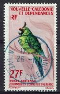 New Caledonia, Bird, Horned Parakeet, 1966, MNH VF, Airmail Superb Postmark From PAITA - Airmail