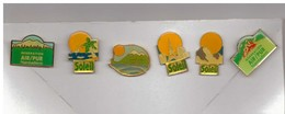 6 Pin's : Soleil Et Air Pur. - Pins