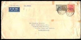 BURMA. 1935 (20 Oct.). BURMA-INDIA-HONG KONG. Rangoon To Hong Kong. Airmail Via Penang Franked Envelope With High Value - Birmanie (...-1947)
