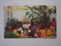 1996 - 1997 PETIT CALENDRIER EN 2 VOLETS ENFANCE MISSIONNAIRE 15 X 9 Cm Env - Calendriers