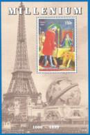 MILLENIUM 1999 Mint Block MNH(**) Painting - Fantasy Labels