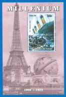 MILLENIUM 1999 Mint Block MNH(**) Titanic - Fantasie Vignetten