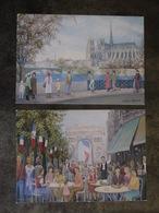 PARIS 1 ER GALERIE LANGLOYS  RUE SAINT HONORE SOPHIE STROUVE LOT 2 CARTES - Arrondissement: 01