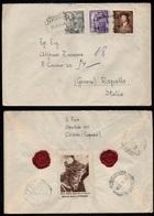 CORDOBA - ESPAGNE - ESPANA /1953 LETTRE RECOMMANDEE & VIGNETTE POUR L' ITALIE - RAPALLO - ERINNOPHILIE (ref LE3145) - 1931-Heute: 2. Rep. - ... Juan Carlos I