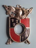 Insigne - B. +/- 11 Cm. En Hoog +/- 14 Cm. > Gewicht +/- 160 Gram .( Zie / Voir Photo Svp ) ! - Militaria