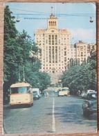KIEV - USSR SOVIET UNION UKRAINE - Lenin Street - Rue Lenine - Bus Cars  Vg - Ucraina