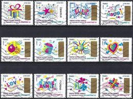 France 2017 - Luck Stamp ( Mi 6894/05 - YT Ad 1490/01 ) Complete Issue - Luchtpost