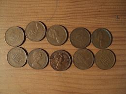 ANGLETERRE. LOT DE 10 NEW PENNY. 1971 / 1981. BRONZE. - 1971-… : Monedas Decimales