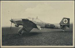 Ansichtskarte Sturzkampfflugzeug Ju 87 Landpost Seerappen über Königsberg Frei - Aviation