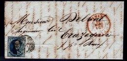 7 Sur LAC Expédiée De NAMUR à Destination De TRAZEGNIES, Cachet D'arrivée Au Verso. - 1851-1857 Médaillons (6/8)