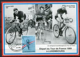 "Luxemburg1989 Limitierte Maximumkarte MiNr.1224 Maximumkarte Mit ESST""Luxembourg-Tour De France"" 1 MC - Vélo"