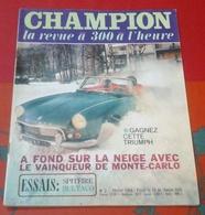 """Champion N°2 Février 1966 Pauli Toivonen,Triumph Spitfire,Maurice Trintignant """"Pétoulet"""" En BD,Bultaco 125 250 - Auto/Moto"""