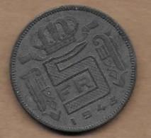 5 Francs Zinc 1943 FR Voir La Qualité - 1934-1945: Leopold III