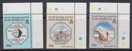 South Georgia 1987 IGY / Int. Geophysical Year 3v (corners)** Mnh (41716B) - Zuid-Georgia