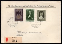 LIECHTENSTEIN - VADUZ / 1956 LETTRE RECOMMANDEE POUR LA SUISSE (ref LE3147) - Liechtenstein