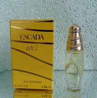 """Miniature  """"ACTE 2 """" D' ESCADA  Eau De Parfum 4 Ml Dans Sa Boite (M076-3) - Miniatures Modernes (à Partir De 1961)"""
