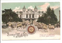 Souvenir De Monte Carlo. Sortie Des Moutons. Dos: CAD VINTIMILLE A MARSEILLE Typ2 - Casino