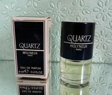 """Miniature  QUARTZ """" De MOLYNEUX  Eau De Parfum 6 Ml Dans Sa Boite (M076-3) - Miniatures Modernes (à Partir De 1961)"""