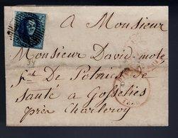 4 Sur LSC Expédiée DINANT à Destination De GOSSELIES. Cote 150,00 € - 1849-1850 Médaillons (3/5)