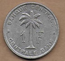 1 Franc Congo-Belge 1958 - 1951-1960: Boudewijn I
