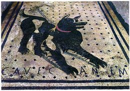 Pompei. Cave Canem. Prends Garde Au Chien. Attention For The Dog. Let Op De Hond. - Pompei