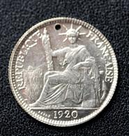 Jeton De Mariage Fait à Partir D'une 10 Cent Indochine Argent 1920 - Denier à épouser - Arras De Boda - Professionnels/De Société