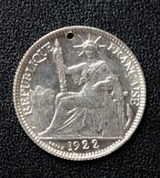 Jeton De Mariage Fait à Partir D'une 10 Cent Indochine Argent 1922 - Denier à épouser - Arras De Boda - Profesionales/De Sociedad