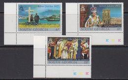 South Georgia 1977 Silver Jubilee Of Queen Elizabeth II 3v (corners) ** Mnh (41717B) - Zuid-Georgia