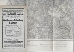 WZL 1  Karte Des Deutschen Reichs - Reutlingen-Rottenburg-Balingen / Württ. Statistisches Landesamt 1924 - Landkarten