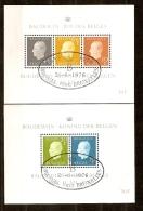 Belgie Belgique 1976 Bloc 50-51 (°) Used Cote 6,50 Euro - Blocs 1962-....