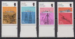 South Georgia 1976 Discovery / Marine Life 4v (+margin) ** Mnh (41717C) - Zuid-Georgia