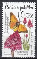 Czech Republic 2007 (MNH) -  Pyramidal Orchid Anacamptis Pyramidalis) - Orchidées