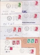 Lot De 14 Lettres Oblitération De 25 BESANCON & MONTBELIARD ENTREPOT DOUBS Sur Sabine & Liberté De Gandon - Marcofilia (sobres)
