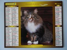 Almanach Du Facteur 2004 Recto Chats Des Forets Norvégiennes  Verso  Chat Persan - Calendriers