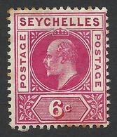 Seychelles, 6 C, 1903, Scott # 40, MH. - Seychellen (...-1976)
