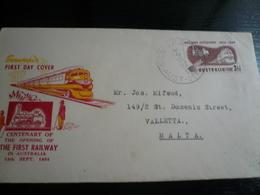 Australia Railway 1954  FDC - Egitto