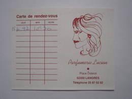 1992 PETIT CALENDRIER EN 2 VOLETS PARFUMERIE LUCIEN LANGRES (52) - Calendriers