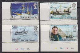 South Georgia 1972 50th Death Ann. Anniversary Of Sir Ernest Schackleton 4v (corners) ** Mnh (41719A) - Zuid-Georgia