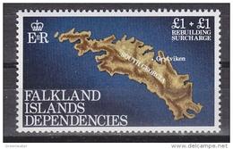 Falkland Islands Dependencies 1982 Rebuilding Fund 1v  ** Mnh (41719A) - Zuid-Georgia