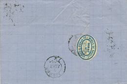 367/28 -- VIGNETTE / LABEL Mines De Houille Du Grand Buisson à HORNU S/lettre TP 30 ST GHISLAIN 1873 - Commemorative Labels