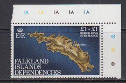 Falkland Islands Dependencies 1982 Rebuilding Fund 1v (corner) ** Mnh (41719B) - Zuid-Georgia