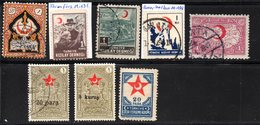 """Türkei, Ab 1926, 8 Briefmarken """"Roter Halbmond"""", Gestempelt/m.F. (17155E) - Türkei"""